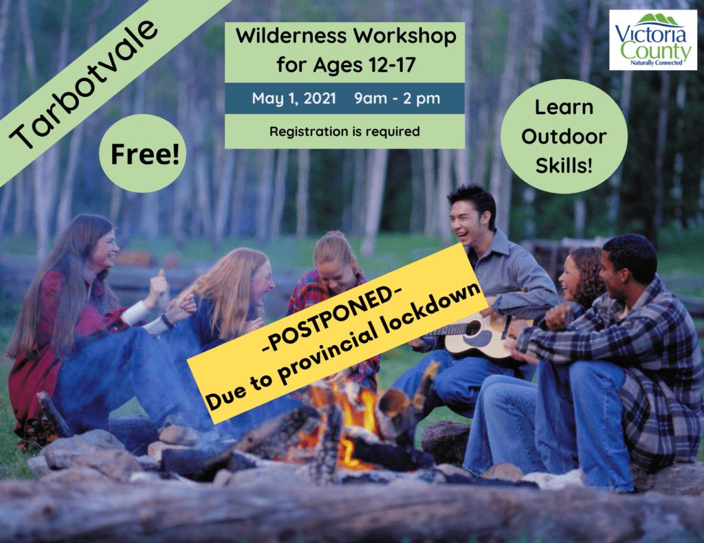Wilderness Workshop for Youth Postponed until further notice